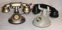 B1 Oxidized Silver and Original Gray Colored Desk Phones