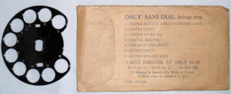 Back of Sani-Dial Package Click picture for Closeup